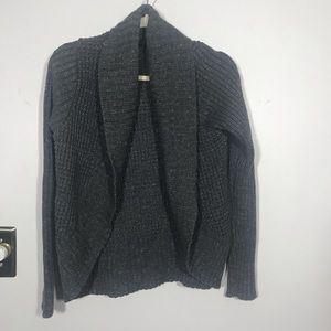 THE LIMITED Open Cardigan Gray with Gold accent, M